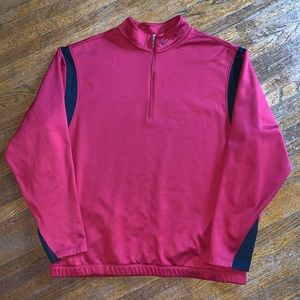 Nike Golf Therma-Fit Pullover Red Black Size XL